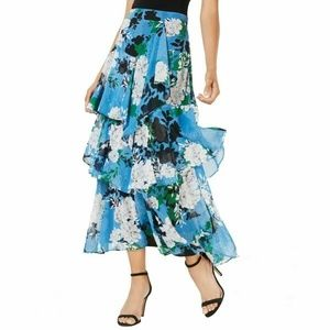 INC Women's Tiered Side Zip Maxi Skirt  22W